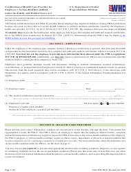 """Form WH-380-E """"Fmla Certification of Health Care Provider for Employee's Serious Health Condition"""""""