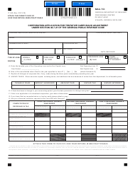 """Form IT552 """"Corporation Application for Tentative Carry-Back Adjustment Under Section 48-7-2 1 of the Georgia Public Revenue Code"""" - Georgia (United States)"""
