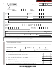"Form MO-8826 ""Disabled Access Credit"" - Missouri"