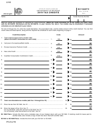 "Form SC1040TC ""Tax Credits"" - South Carolina, 2019"
