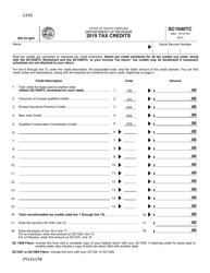 "Form SC1040TC ""Tax Credits"" - South Carolina"