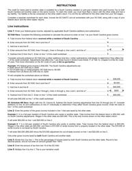 "Form SC1040TC ""Tax Credits"" - South Carolina, Page 3"