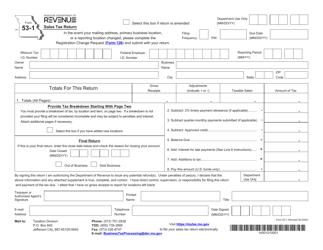 """Form 53-1 """"Sales Tax Return"""" - Missouri"""