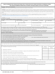 "DD Form 2648 ""Service Member Pre-separation/Transition Counseling and Career Readiness Standards Eform for Service Members Separating, Retiring, Released From Active Duty (REFRAD)"""
