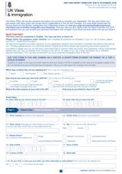 """Form VAF1A """"Application for Uk Visa to Visit or for Short-Term Stay"""" - United Kingdom"""