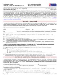 "Form WH-382 ""Fmla Designation Notice"""