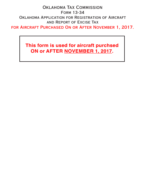 Form 13-34  Printable Pdf