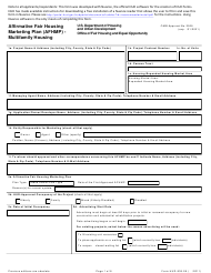 "Form HUD-935.2A ""Affirmative Fair Housing Marketing Plan (Afhmp) - Multifamily Housing"""