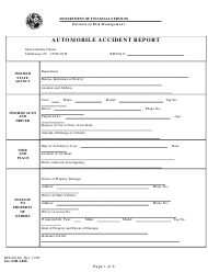 "Form DFS-D0-261 ""Automobile Accident Report"" - Florida"