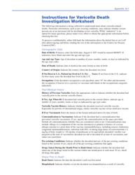 "Instructions for Form CDC53.10B (E) ""Varicella Death Investigation Worksheet"""