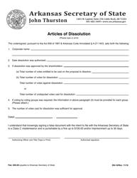 "Form DN-10 ""Articles of Dissolution"" - Arkansas"