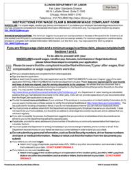 """Wage Claim & Minimum Wage Complaint Form"" - Illinois"