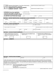 "Form MO780-1097 ""Generator's Hazardous Waste Summary Report"" - Missouri"