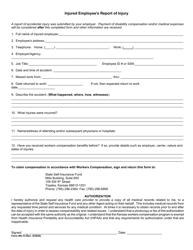 """Form WC-9 """"Injured Employee's Report of Injury"""" - Kansas"""