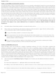 """Form WH-384 """"Certification for Military Family Leave for Qualifying Exigency Under the Family and Medical Leave Act"""", Page 2"""
