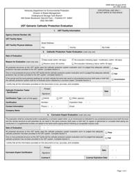 "Form DWM4226 ""Ust Galvanic Cathodic Protection Evaluation"" - Kentucky"