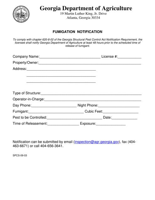 Form SPCS-09-03  Printable Pdf