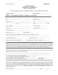 "Form DA325 ""Shared Leave Request Form"" - Kansas"