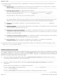 """Form WH-380-F """"Certification of Health Care Provider for Family Member's Serious Health Condition Under the Family and Medical Leave Act"""", Page 3"""