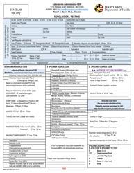 "Form MDH4677 ""Serological Testing"" - Maryland"
