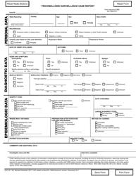 "Form CDC54.7 ""Trichinellosis Surveillance Case Report"""