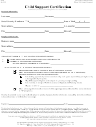 "Form M-522 ""Child Support Certification"" - New York City"