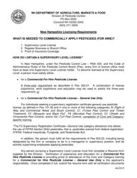 """Resume Form - Supervisory Level Exam Requirement"" - New Hampshire"
