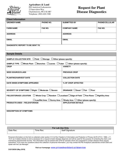 Form C43130530 Printable Pdf