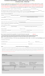 "Form 1 Schedule 1 ""Tourism Establishment License Application (Tela)"" - Prince Edward Island, Canada, 2020"