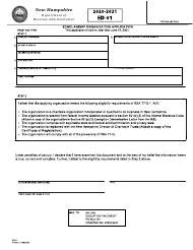 "Form ED-01 ""Scholarship Organization Application"" - New Hampshire, 2021"