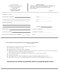 "Form ES-90F ""Application for Individual Approval for Inflatables"" - New Jersey"