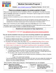 """Medical Cannabis Program Patient Enrollment Application"" - New Mexico"