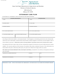 """Veterinary Care Plan"" - New York"
