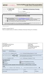 """Community/Borough Board Recommendation"" - New York City"