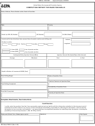 "EPA Form 7520-18 ""Completion Report for Injection Wells"""