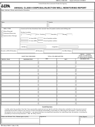 "EPA Form 7520-11 ""Annual Class Ii Disposal/Injection Well Monitoring Report"""