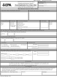 "EPA Form 7520-6 ""Permit Application for a Class I Well"""