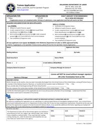 "AL Form 1 ""Trainee Application"" - Oklahoma"