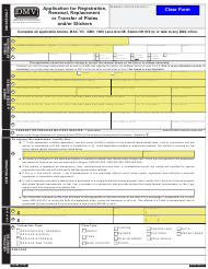 """Form 735-268 """"Application for Registration, Renewal, Replacement or Transfer of Plates and/or Stickers"""" - Oregon"""