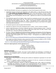 """""""Application to Obtain a Class D (Soil Scientist) on-Site License"""" - Delaware"""