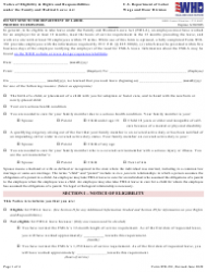 """Form WH-381 """"Notice of Eligibility & Rights and Responsibilities Under the Family and Medical Leave Act"""""""