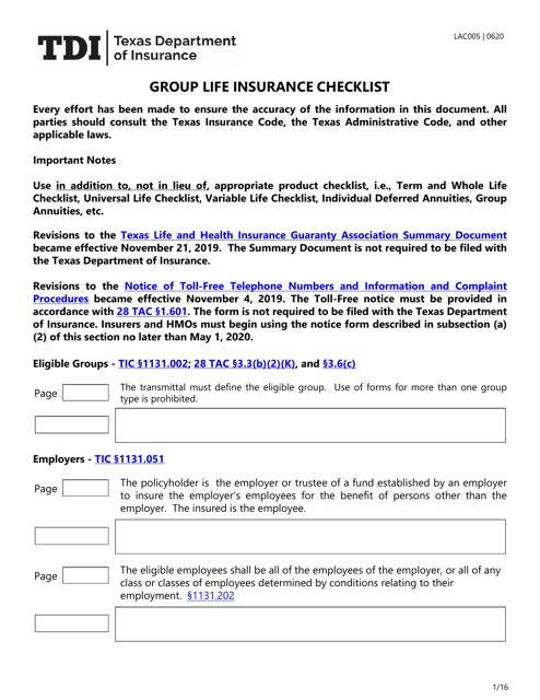 Form LAC005  Printable Pdf