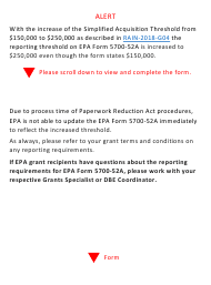 "EPA Form 5700-52A ""Mbe/Wbe Utilization Under Federal Grants and Cooperative Agreements"""