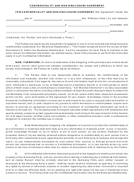 """""""Confidentiality and Non-disclosure Agreement Template"""""""