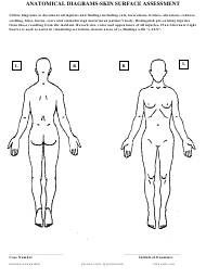 """Anatomical Diagrams Skin Surface Assessment Form"""