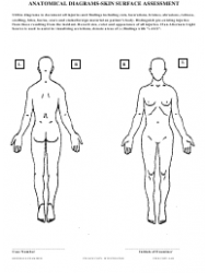 Anatomical Diagrams Skin Surface Assessment Form