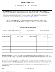 "Form 900-00025 ""Cle Makeup Plan"" - Vermont"
