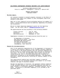 "Instructions for ""California Earthquake Probable Maximum Loss Questionnaire"" - California"