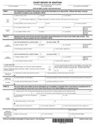 "Form VS44 ""Court Report of Adoption"" - California"