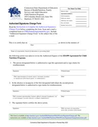 """""""Authorized Signatures Change Form"""" - Connecticut"""